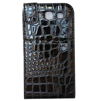 Etui clapet croco noir Samsung galaxy S III