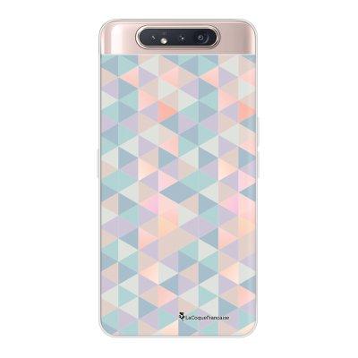 Coque Samsung Galaxy A80 360 intégrale transparente Triangles multicolors Ecriture Tendance Design La Coque Francaise.