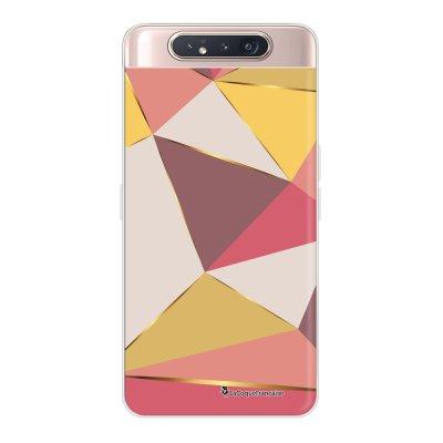 Coque Samsung Galaxy A80 360 intégrale transparente Triangles roses Ecriture Tendance Design La Coque Francaise.