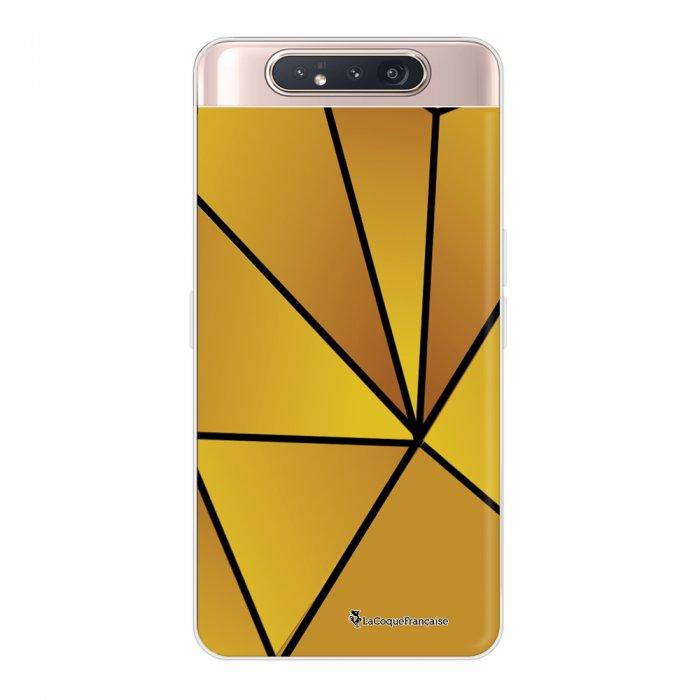 Coque Samsung Galaxy A80 360 intégrale transparente Jaune géométrique Ecriture Tendance Design La Coque Francaise.