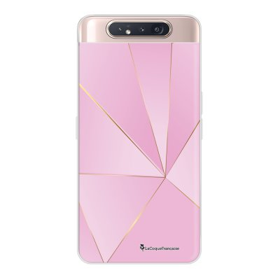 Coque Samsung Galaxy A80 360 intégrale transparente Rose géométrique Ecriture Tendance Design La Coque Francaise.