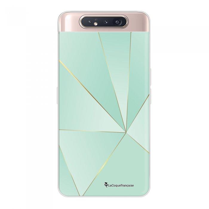 Coque Samsung Galaxy A80 360 intégrale transparente Vert géométrique Ecriture Tendance Design La Coque Francaise.