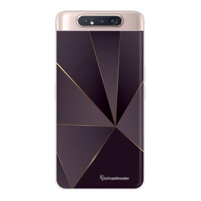 Coque Samsung Galaxy A80 360 intégrale transparente Violet géométrique Ecriture Tendance Design La Coque Francaise.