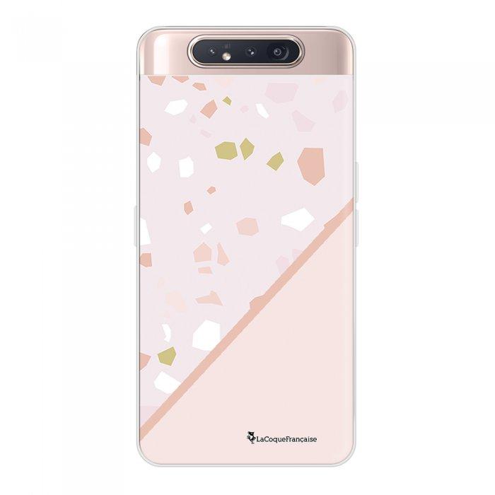Coque Samsung Galaxy A80 360 intégrale transparente Duo Terrazzo Rose Ecriture Tendance Design La Coque Francaise.