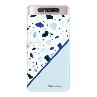 Coque Samsung Galaxy A80 360 intégrale transparente Duo Terrazzo Bleu Ecriture Tendance Design La Coque Francaise.