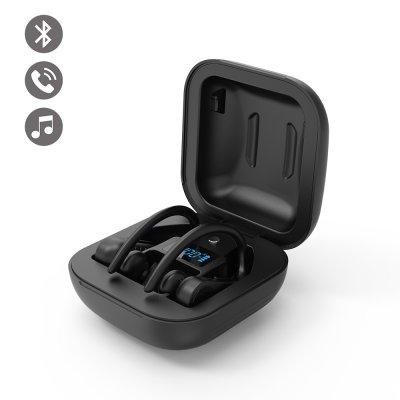 Ecouteurs sport étanche Bluetooth Noir avec affichage LED