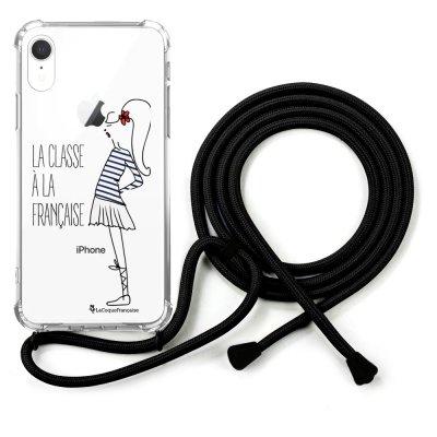 Coque cordon iPhone Xr cordon noir Dessin Classe La Coque Francaise
