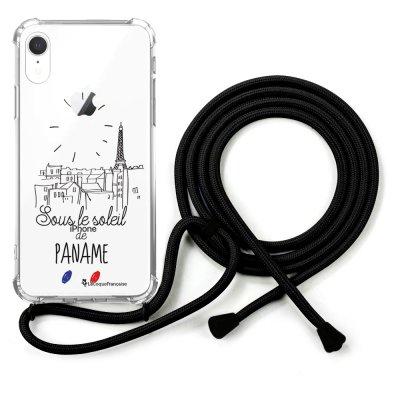 Coque cordon iPhone Xr cordon noir Dessin Sous le soleil La Coque Francaise