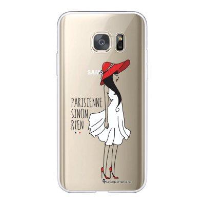 Coque Samsung Galaxy S7 360 intégrale transparente Parisienne SR Ecriture Tendance Design La Coque Francaise.
