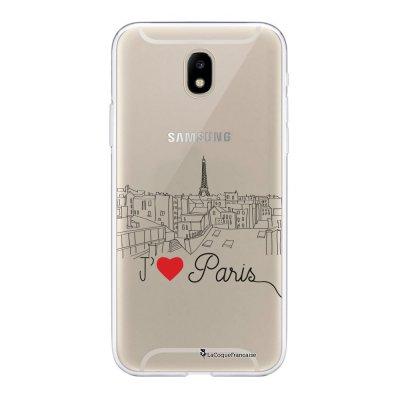 Coque Samsung Galaxy J5 2017 souple transparente J'aime Paris Motif Ecriture Tendance La Coque Francaise