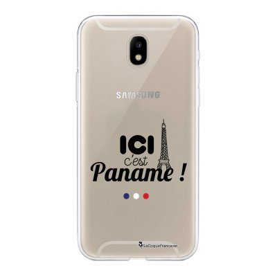 Coque Samsung Galaxy J5 2017 souple transparente Ici c'est Paname Motif Ecriture Tendance La Coque Francaise