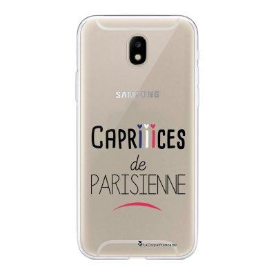 Coque Samsung Galaxy J5 2017 souple transparente Caprices de Parisienne Motif Ecriture Tendance La Coque Francaise