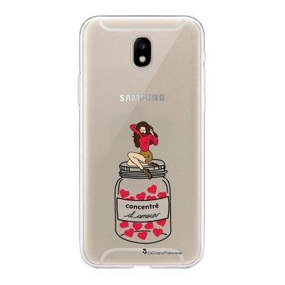 Coque Samsung Galaxy J5 2017 souple transparente Concentré d'amour Motif Ecriture Tendance La Coque Francaise