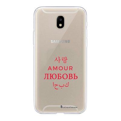 Coque Samsung Galaxy J5 2017 souple transparente Amour universel Motif Ecriture Tendance La Coque Francaise