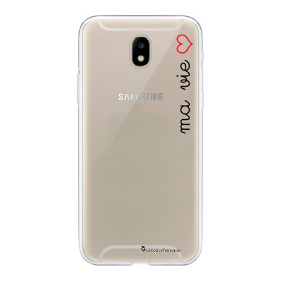 Coque Samsung Galaxy J5 2017 souple transparente Ma vie Motif Ecriture Tendance La Coque Francaise
