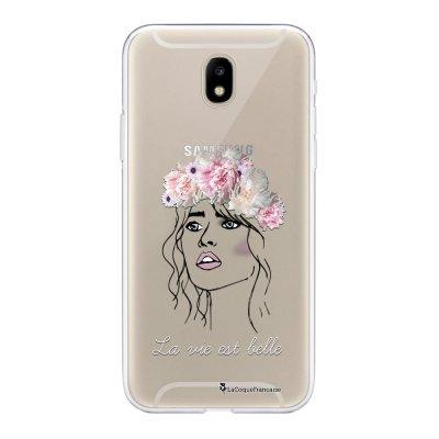 Coque Samsung Galaxy J5 2017 souple transparente La vie est belle Motif Ecriture Tendance La Coque Francaise