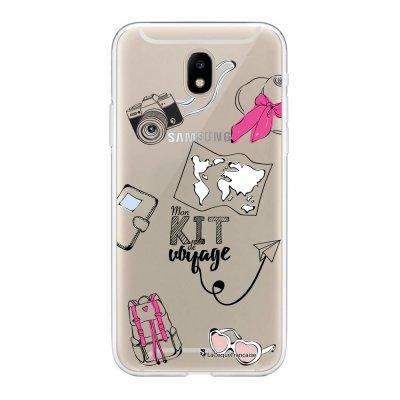 Coque Samsung Galaxy J5 2017 souple transparente Mon kit de voyage Motif Ecriture Tendance La Coque Francaise