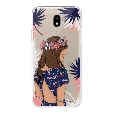 Coque Samsung Galaxy J5 2017 souple transparente Couronne de fleurs Motif Ecriture Tendance La Coque Francaise