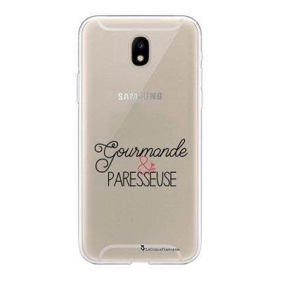 Coque Samsung Galaxy J5 2017 souple transparente Gourmande & paresseuse Motif Ecriture Tendance La Coque Francaise