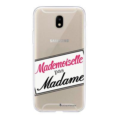 Coque Samsung Galaxy J5 2017 souple transparente Mlle pas Mme Motif Ecriture Tendance La Coque Francaise