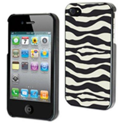 Muvit coque zebree noire et blanche Safari 3 pour iPhone 4/4S