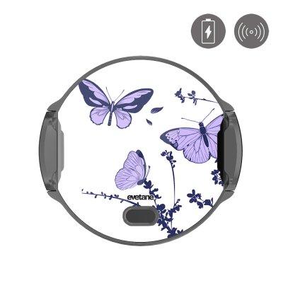 Support voiture avec charge à induction Papillons Violets Evetane