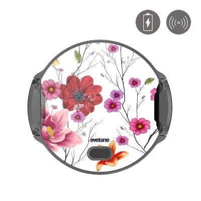 Support voiture avec charge à induction Fleurs Multicolores Evetane