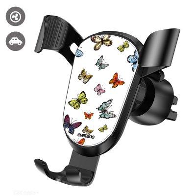 Support téléphone voiture Papillons Multicolors Evetane