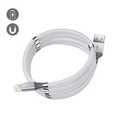 Câble Lightning magnétique anti noeud 1m Blanc