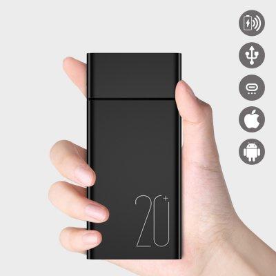 Batterie double USB 20000 mAh - Noire