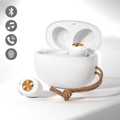 Ecouteurs bluetooth Blanc avec réduction de bruit