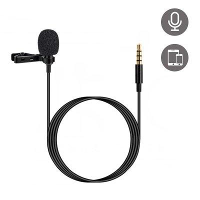 Micro pour Smartphone avec pince et câble jack 3,5mm
