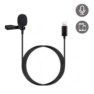 Micro pour Smartphone avec pince et câble lightning