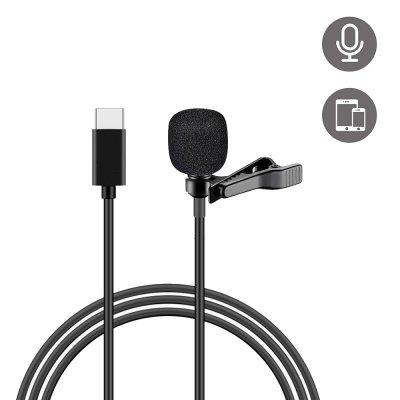 Micro pour Smartphone avec pince et câble Type C