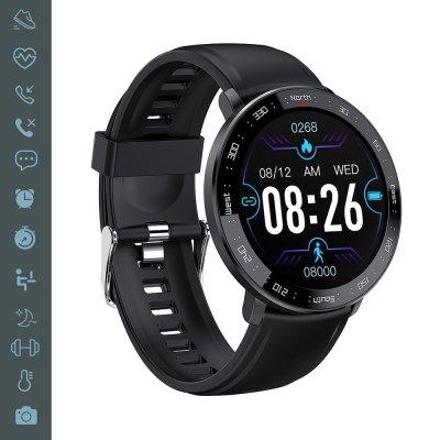 Montre connectée suivi d'activité, multisports noir bracelet silicone