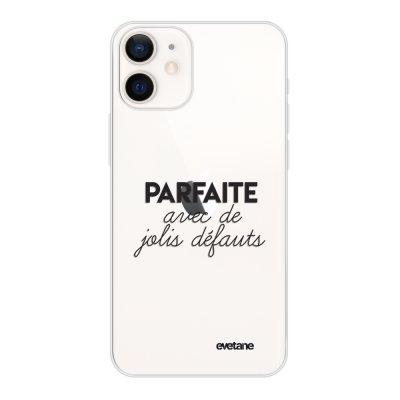 Coque iPhone 12 mini souple transparente Parfaite Avec De Jolis Défauts Motif Ecriture Tendance Evetane