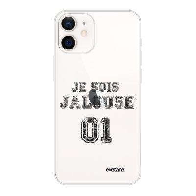 Coque iPhone 12 mini souple transparente Jalouse 01 Motif Ecriture Tendance Evetane