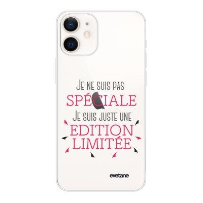 Coque iPhone 12 mini souple transparente Spéciale édition limitée Motif Ecriture Tendance Evetane