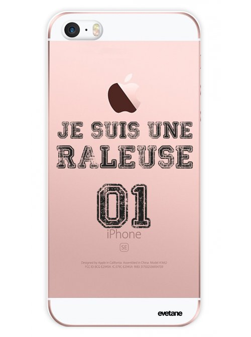 coque silicone transparent raleuse pour iphone se 5s 5