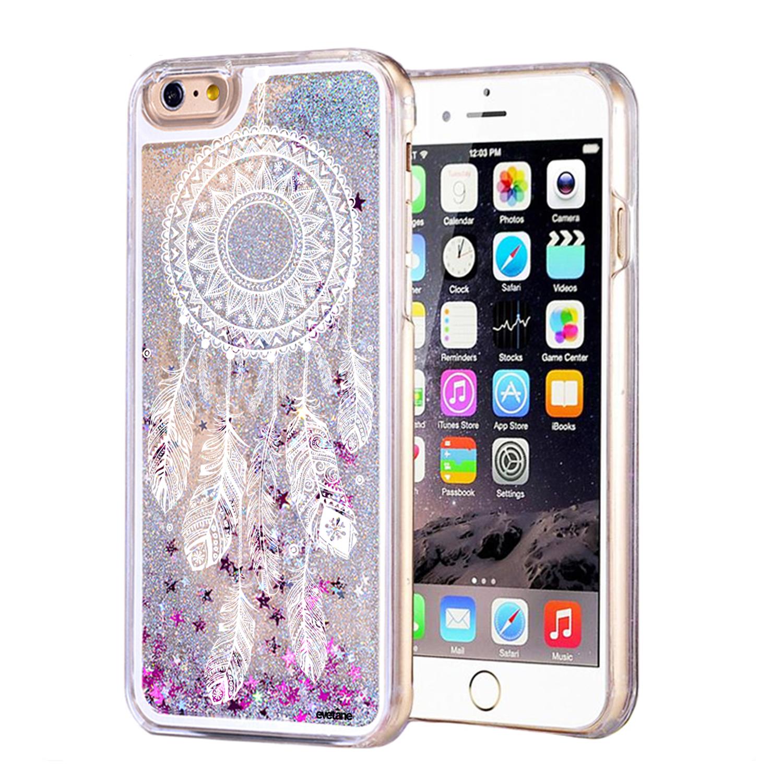 Coque paillettes iPhone 6/6S paillettes liquides argent Attrape ...