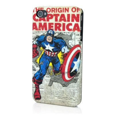 Coque Licence Marvel super héros Captain America Newspaper pour iPhone 4/4S
