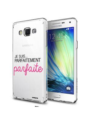 Coque rigide transparent Je suis parfaitement parfaite pour Samsung Galaxy Grand Prime