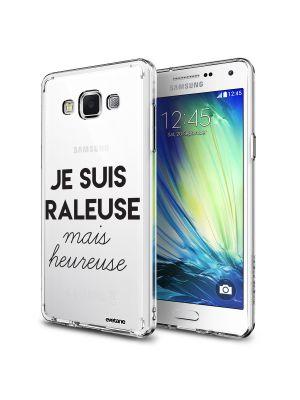 Coque rigide transparent Raleuse Mais Heureuse pour Samsung Galaxy Grand Prime