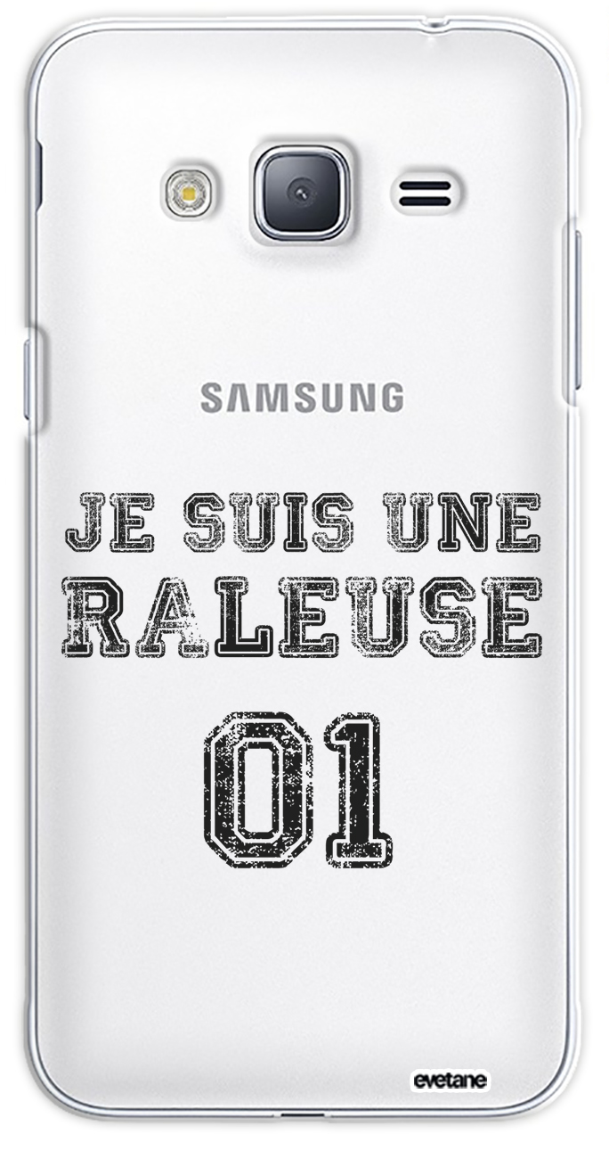 Coque Samsung J3 2016 rigide transparente Râleuse Dessin Evetane ...