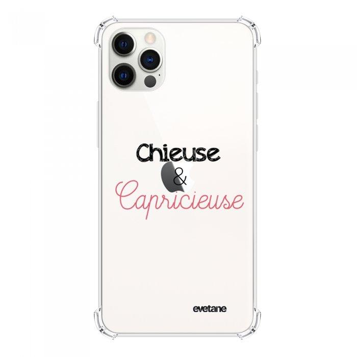 Coque iPhone 12 Pro Max anti-choc souple angles renforcés transparente Chieuse et Capricieuse Evetane. - Coquediscount