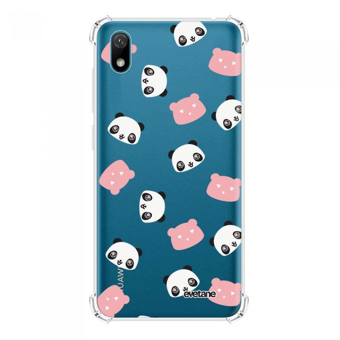 Coque Huawei Y5 2019 anti-choc souple angles renforcés transparente Tête de Panda Evetane. - Coquediscount