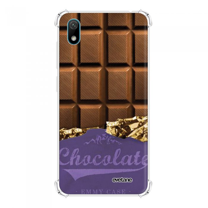 Coque Huawei Y5 2019 anti-choc souple angles renforcés transparente Chocolat Evetane. - Coquediscount