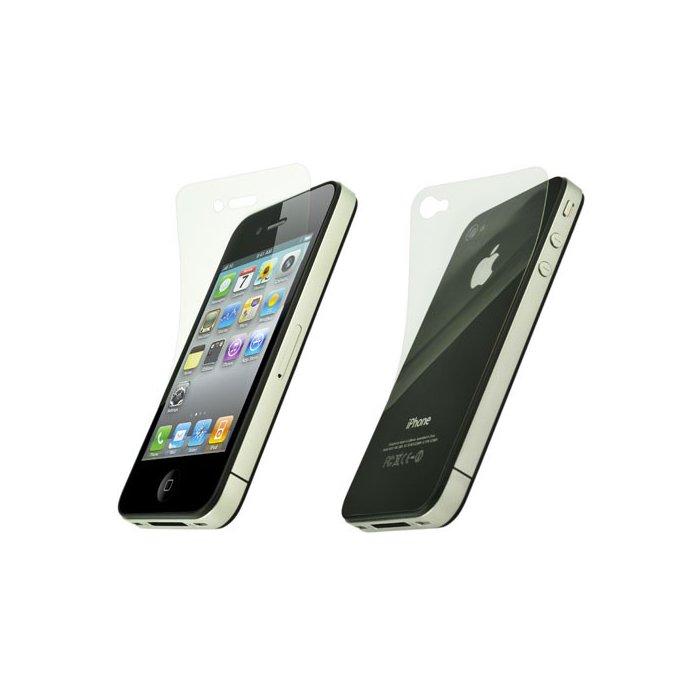 Lot de 3 films anti-glare avant arrière et écran pour iPhone 4 / 4S