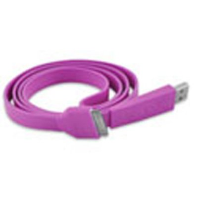 Câble data USB Fashion violet pour Apple iPhone - Transfert et chargement