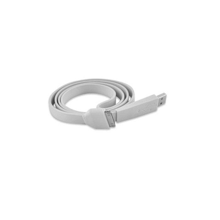 Câble data USB Fashion blanc pour Apple iPhone - Transfert et chargement